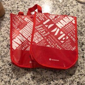 2 red lulu bags